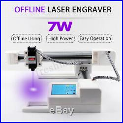 7000mW 7W USB Laser Engraving Cutting Machine DIY Logo Mark Printer Engraver