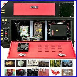 80W CO2 Laser Cutter Laser Engraver And CW-3000 Industrial Water Cooler Chiller