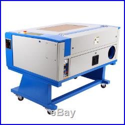 80W CO2 Laser Engraving Cutting Machine Engraver cutter 700500mm With CNC Rotary