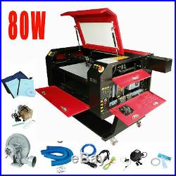 80W Engraver Cutter with USB Interface Laser Engraving Machine 110V CO2 700X500MM