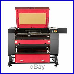 80W USB CO2 Laser Engraving Cutting Machine Engraver Cutter 700x500mm