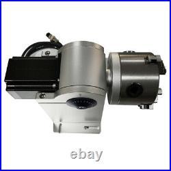 80mm Rotation Axis Fiber Laser Marking Machine Rotary Chuck Rotary Shaft Driver