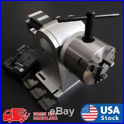 AOK LASER 4th axis 80mm rotary attachment with driver for laser marking machine