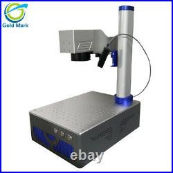 Auto focus 20W Raycus Fiber Laser Metal Marking Machine up and down laser head