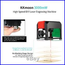 Automatic 3000mW High Speed Laser Engraving Machine DIY Carving Engraver Tool