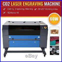 C02 Laser Engraver Cutter Cutting Engraving Marking Machine 60W 28x20