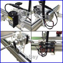 CNC 100100 Router Kit & 15W Laser Module Wood Carving Engraving Milling Machine