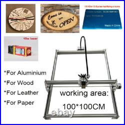 CNC 1010 Laser Engraver Kit Router with15W Laser Module Wood Milling Machine