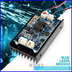 CNC 15W 450nm Blue Laser Module Engraver Machine with Heatsink LMB450B-15WB