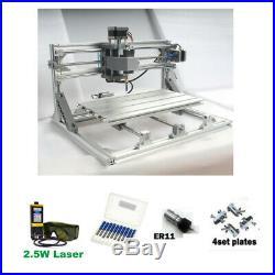 CNC 3018 Engraver Router & 5.5W Laser Module Carving Milling Cutting DIY Machine