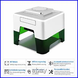 CNC Laser Engraver Cutting Bluetooth Woodworking 100x100mm DIY Logo Mark Printer