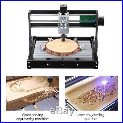 CNC3018 500mW DIY Router Kit 2-in-1 Laser Engraving Machine 3 Axis withER11 Collet