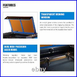 CO2 80W 40x24 Laser Engraver Engraving Cutting Machine Motorized Workbed New
