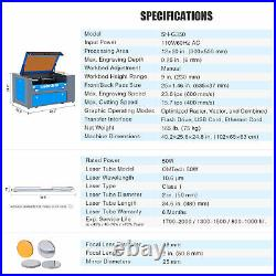 CO2 Laser Engraver 50W 20x12 Inch/50x30cm Engraver Cutter plus Rotary Axis A