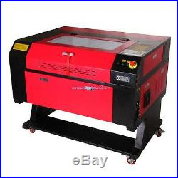 CO2 Laser Engraver 60W Laser Engraving Machine 28x20in USB with CNC Rotary Device