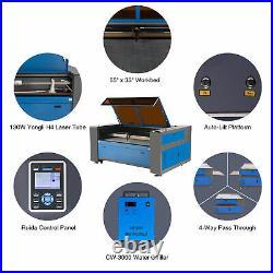 CO2 Laser Engraver Cutter 130W 55x35 140x90cm Engraving Machine Water Chiller