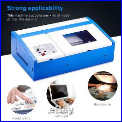 CO2 Laser Engraver Cutter Commercial Engraving Cutting Machine 40W USB 12''X8'
