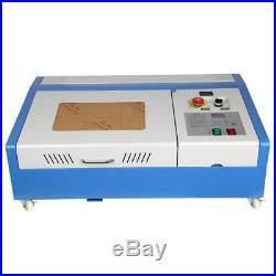 CO2 Laser Engraving Cutting Machine 12x18in USB Movable Wheel 40W