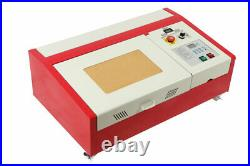 CO2 USB 40W Laser Engraving Cutting Machine + 4 Rounds 300200mm Laser Cutter