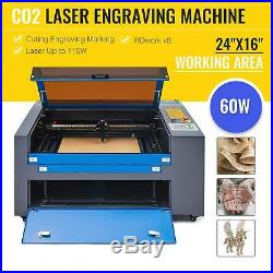 Co2 Laser Engraver 60W 24x16 Cutting Engraving Marking Machine For Woodworking