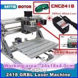 DIY 3334cm 2500MW Mini Laser Engraving Cutting Engraver Cutter Printer Machine