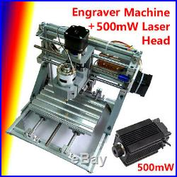 DIY 3Axis CNC Router Engraver 500MW Laser Cutter Head Machine Milling Metal