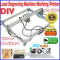 DIY Laser Engraving Machine Logo Marking Printer Engraver Kit 500mw 65x50cm FAST