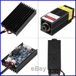 DIY TTL CNC 15W 110V 450nm Blue Laser Module Engraver Machine with Heatsink