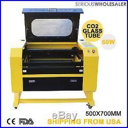 Engraver Cutter with USB Interface Laser Engraving Machine 60W 110V CO2 New