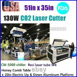 FDA 130W 51 x 35 Reci CO2 Laser Cutter Engraver Engraving Machine Auto Focus