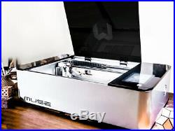 FS Muse 45 Watt Laser Cutter and Engraver + Industrial Chiller and Exhaust Fan