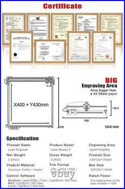 Fast Ship Ortur Master 2 20w Desktop Laser Engraver And Cutter Lasergrbl Control