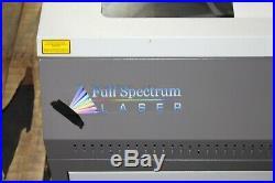 Full Spectrum Laser Engraver Model 5030 60W CO2 Laser With Manuals & Water Pump
