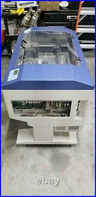 GCC LaserPro Mercury II Laser Engraver with Rotary Attachment