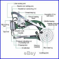 Hand Machine Cobbler Shoe Repair Machine Dual Cotton Nylon Line Sewing Machine