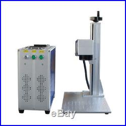Jpt 50w fiber laser marking machine 300mm and 110x110mm lens with rotary DHL