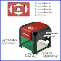 KKmoon Automatic K5 3000mW Laser Engraving Machine USB DIY Carving Engraver Y5V5