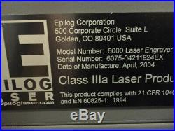 Laser engraver Epilog Legend EX 75 Watt Price Reduced