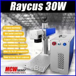 MCWlaser 30W Raycus Fiber Laser Making Machine Engraver Metal & Rotary Chuck DHL