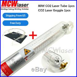MCWlaser 80W-100W CO2 Laser Tube Length 1250mm for Laser Engraver Cutter Machine