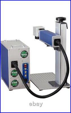 Max 50w Fiber Laser Marking Machine Q-switched, Bjjcz + Rotary Axis & 2 Lenses