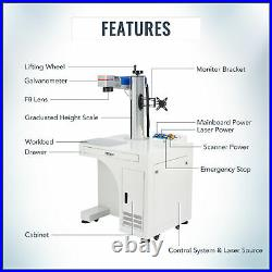 Max Fiber Laser Marking Machine Engraver Desktop 30W 7.9×7.9 with Rotary Axis A