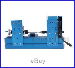 Metal Mini Wood-turning Lathe Woodworking Power Tool Machine for Student DIY