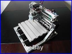 Mini 3 Axis DIY CNC 2418 Router Kit Wood Engraver Milling Machine + 5500mW Laser