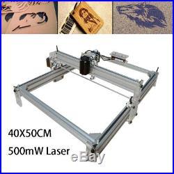 Mini Laser CNC Router Printing Engraving Machine Kit Mill Carving 500mW GRBL USB