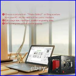 NEJE 1500MW 405nm Laser Engraver Machine AI Printer Desktop DIY Engraving Cutter