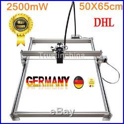 NO VAT 50X65cm 2500MW DIY Desktop Laser Engraving Machine Cutter Printer Carver