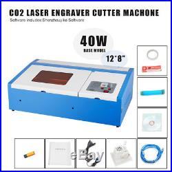New 40W CO2 Laser Engraving Cutting Machine Engraver Cutter USB Port cfl