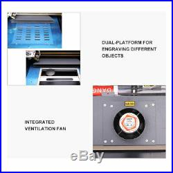 New Upgraded 40W CO2 Laser Engraver Cutting Machine Crafts Cutter USB Interface