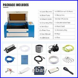 OMTech 20x12 50W CO2 Laser Engraver Cutter Engraving Machine with Rotary Axis
